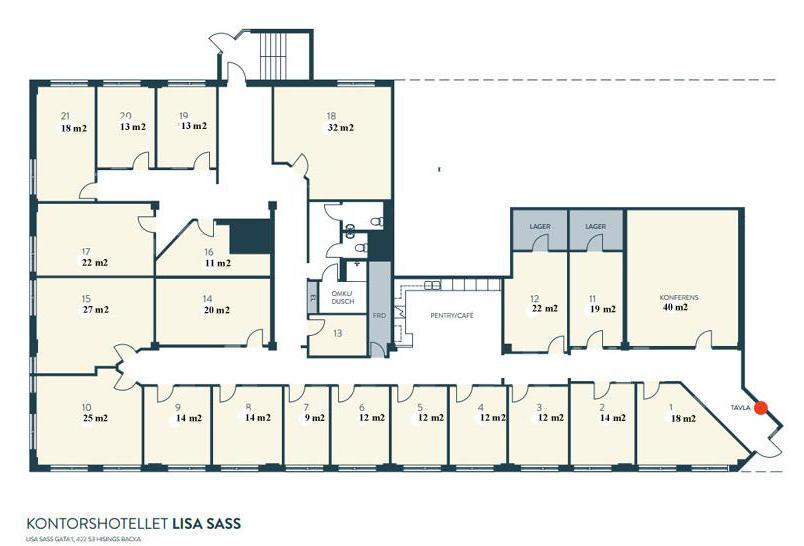 Bra ytor med olika storlekar på våra kontor på Lisa Sass